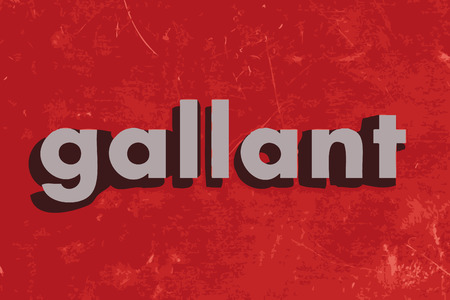 gallant: gallant word on red concrete wall