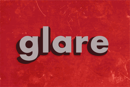 glare: glare word on red concrete wall Illustration