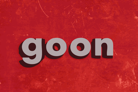 goon: goon word on red concrete wall Illustration
