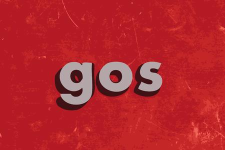 gos word on red concrete wall Ilustração