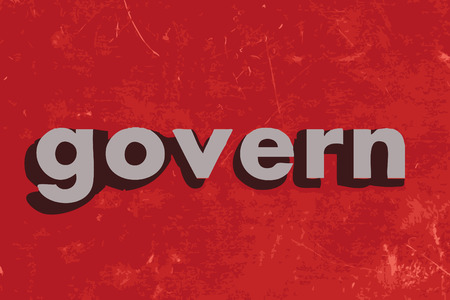 govern: govern word on red concrete wall
