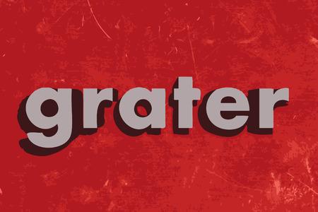 reibe: Reibe Wort auf roten Betonwand