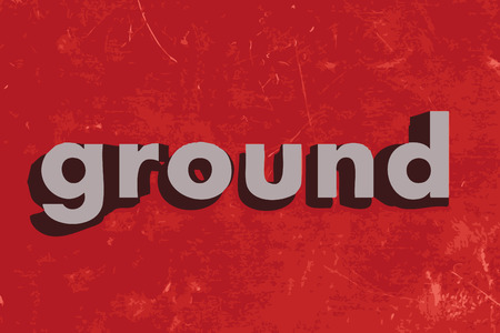 ground: ground word on red concrete wall