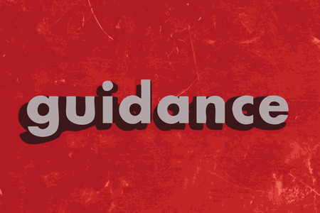 guidance: guidance word on red concrete wall