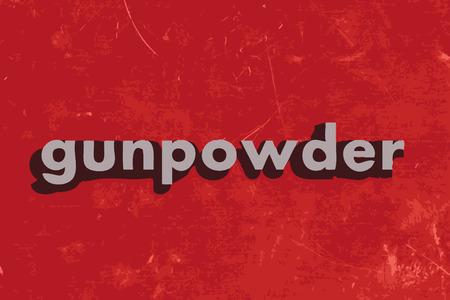 gunpowder: gunpowder word on red concrete wall Illustration