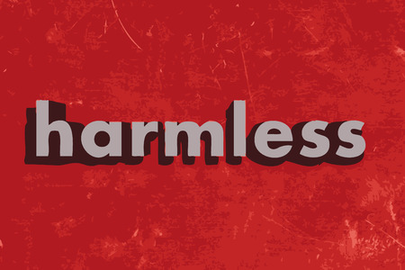 harmless: harmless word on red concrete wall Illustration