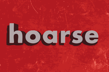 hoarse word on red concrete wall