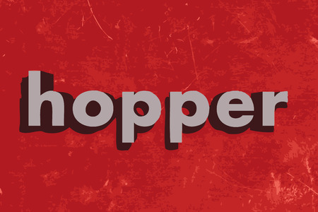 hopper: hopper word on red concrete wall Illustration