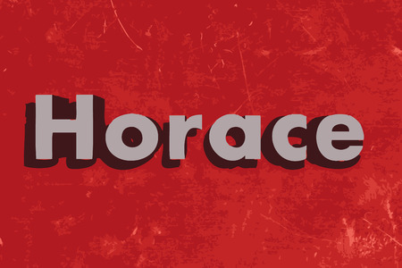 horace: Horace word on red concrete wall Illustration