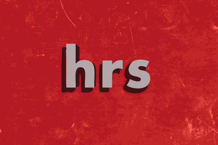 hrs: hrs word on red concrete wall