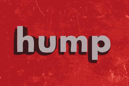 hump: Parola gobba sul muro di cemento rosso