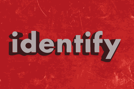 identify: identify word on red concrete wall
