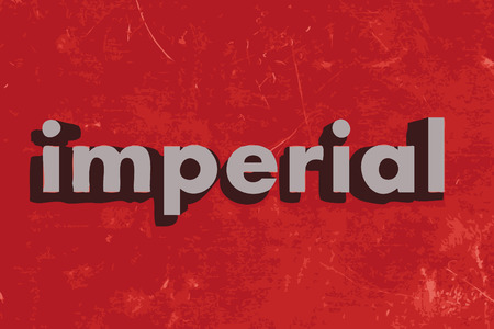 imperial: imperial word on red concrete wall