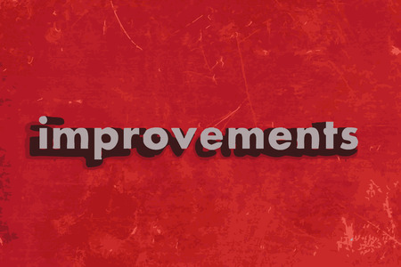 improvements: improvements word on red concrete wall