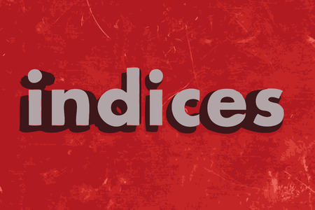 indices: indices word on red concrete wall