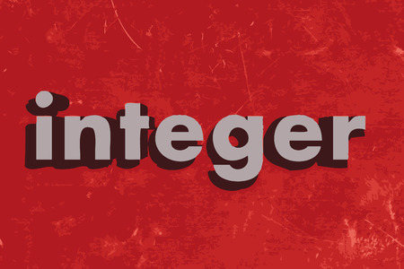 integer: integer vector word on red concrete wall