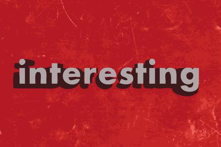 érdekes: Érdekes szó piros betonfal