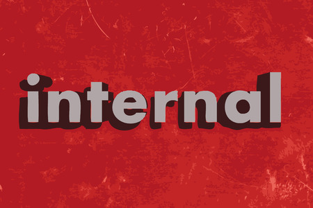 internal: internal word on red concrete wall Illustration