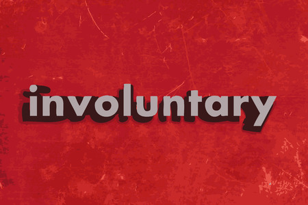 involuntary: involuntary vector word on red concrete wall Illustration