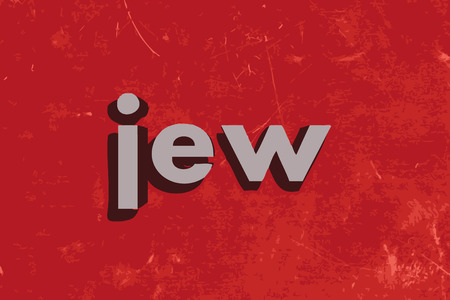 jews: jew word on red concrete wall