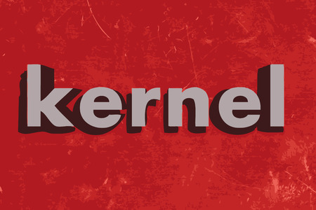 the kernel: kernel word on red concrete wall