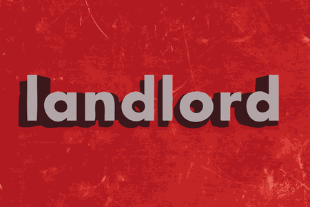 landlord: landlord word on red concrete wall