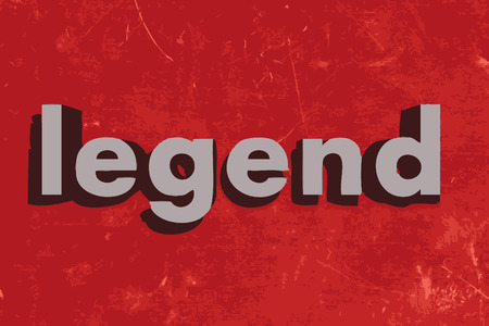 legends: legend word on red concrete wall Illustration