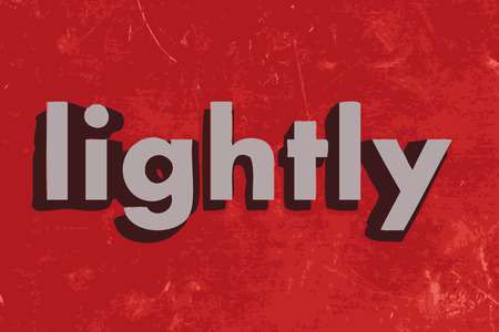 lightly: lightly word on red concrete wall
