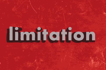 limitation: limitation word on red concrete wall Illustration
