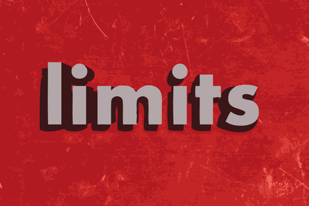 limits: limits word on red concrete wall