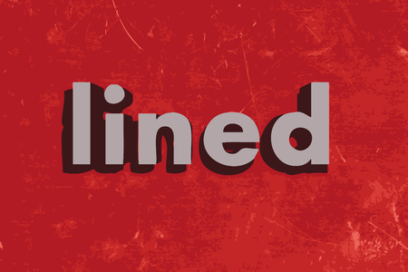 lined: lined word on red concrete wall