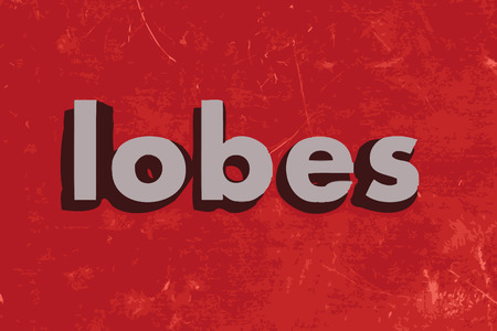 lobes: lobes word on red concrete wall Illustration