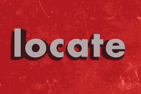locate: locate word on red concrete wall