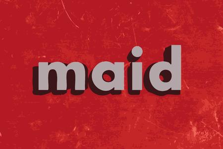 sirvientes: palabra vector dama en rojo muro de hormig�n