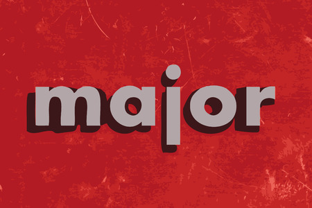 major: major vector word on red concrete wall