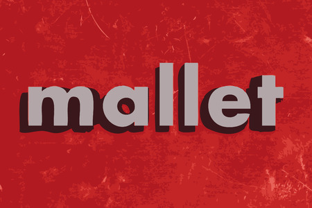 mallet: mallet vector word on red concrete wall