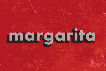 margarita: margarita vector word on red concrete wall Illustration