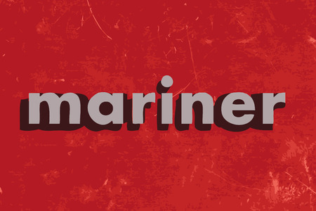 mariner: mariner vector word on red concrete wall