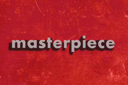 masterpiece: masterpiece vector word on red concrete wall