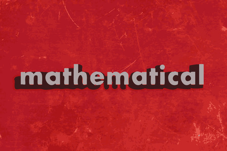 mathematical: mathematical vector word on red concrete wall