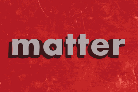 matter: matter vector word on red concrete wall