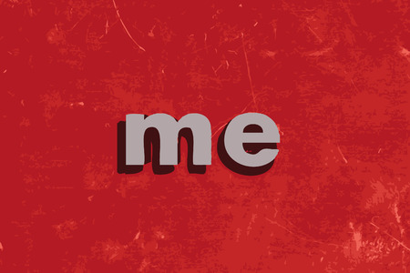 me: me vector word on red concrete wall Illustration