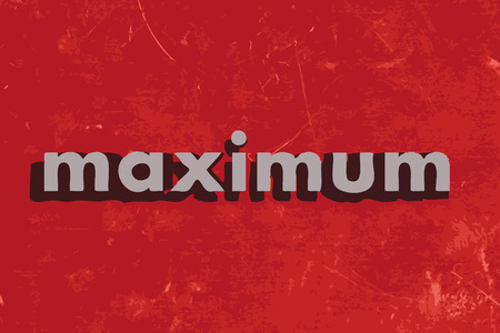 maximum vector word on red concrete wall