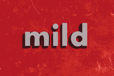 mild: mild vector word on red concrete wall
