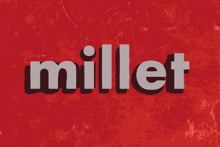 millet: millet vector word on red concrete wall Illustration