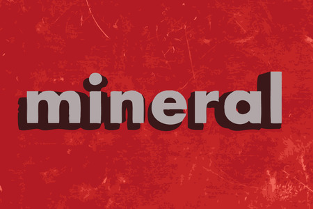 mineral: mineral vector word on red concrete wall