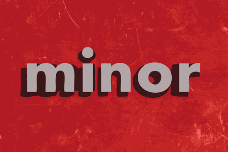 minors: minor vector word on red concrete wall