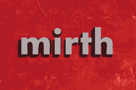 mirth: mirth vector word on red concrete wall
