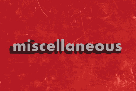 miscellaneous: miscellaneous vector word on red concrete wall Illustration