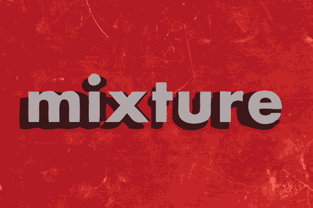mixture: mixture vector word on red concrete wall